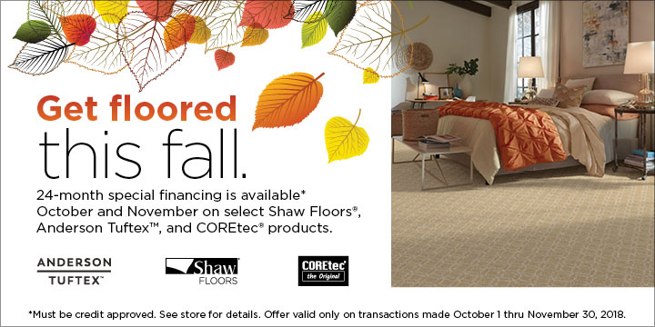 Shaw Fall Sale