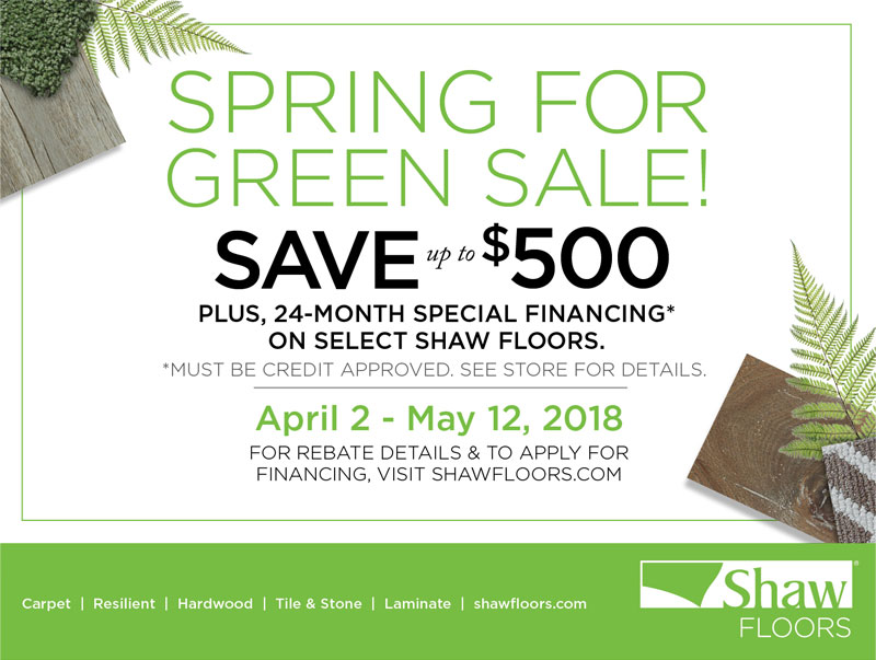 Shaw Spring Sale