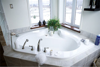 countertop tub deck great floors