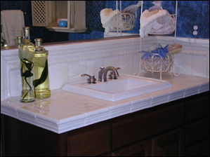 bathroom sink tile