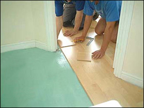 Professional laminate flooring installation