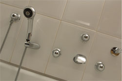 volume controls typically control shower heads body sprays and hand showers