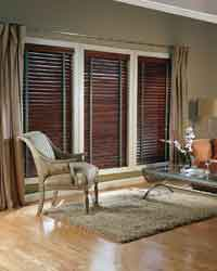 Hunter Douglas <br>Style: Country Woods Exposé blinds with Standard Cordlock