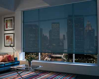 Hunter Douglas - Designer Screen Roller Shades with Continuous Cord Loop